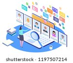 job interview  recruitment... | Shutterstock .eps vector #1197507214