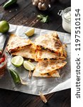 vegetarian snacks  quesadilla... | Shutterstock . vector #1197510154