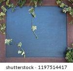 simple blackboard with ivy... | Shutterstock . vector #1197514417
