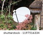 satellite dish in the yard ... | Shutterstock . vector #1197516334
