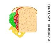 national sandwich day. 3... | Shutterstock .eps vector #1197517867