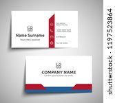 modern simple business card set ... | Shutterstock .eps vector #1197523864