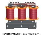 a three phase ac voltage... | Shutterstock .eps vector #1197526174