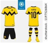 soccer jersey or football kit ... | Shutterstock .eps vector #1197526864