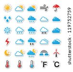 weather icons set as labels  ...