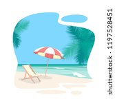 cartoon beach travel resort... | Shutterstock .eps vector #1197528451