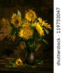 Beautiful Sunflowers In A Vase...