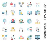 network and communication... | Shutterstock .eps vector #1197531754