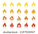 fire silhouette icon set.... | Shutterstock .eps vector #1197533947