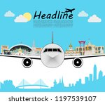 airplane or economy class card... | Shutterstock .eps vector #1197539107