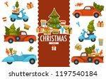 merry christmas  cars... | Shutterstock .eps vector #1197540184