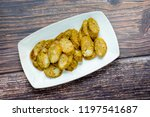 thai spicy sausages  made from... | Shutterstock . vector #1197541687