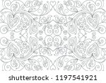 beautiful pattern with floral... | Shutterstock .eps vector #1197541921