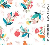 beautiful seamless pattern ... | Shutterstock .eps vector #1197541927