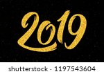 happy new year 2019 greeting...   Shutterstock .eps vector #1197543604