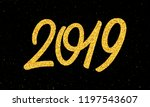 happy new year 2019 greeting...   Shutterstock .eps vector #1197543607