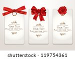 gift cards with different red... | Shutterstock .eps vector #119754361
