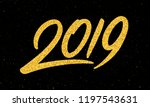happy new year 2019 greeting...   Shutterstock .eps vector #1197543631