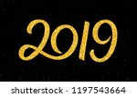 happy new year 2019 greeting...   Shutterstock .eps vector #1197543664