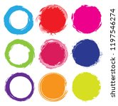 grunge circle frames.vector... | Shutterstock .eps vector #1197546274