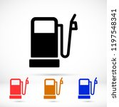vector icon gas station 10 eps | Shutterstock .eps vector #1197548341
