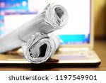fresh newspapers and open... | Shutterstock . vector #1197549901
