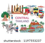 thailand central region... | Shutterstock .eps vector #1197553237