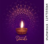 beautiful diwali festival diya... | Shutterstock .eps vector #1197555064