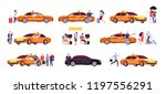 people and taxi. cab drivers... | Shutterstock .eps vector #1197556291