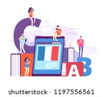 foreign language online... | Shutterstock .eps vector #1197556561