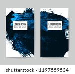 set of vector business card... | Shutterstock .eps vector #1197559534