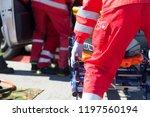 paramedics in a rescue... | Shutterstock . vector #1197560194