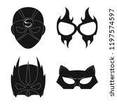 vector illustration of hero and ...   Shutterstock .eps vector #1197574597