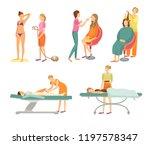 spa salon tanning procedure...   Shutterstock .eps vector #1197578347