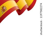 spain flag  vector illustration ... | Shutterstock .eps vector #1197582274