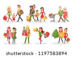 characters or families on... | Shutterstock .eps vector #1197583894