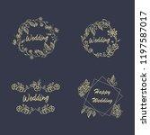 vintage luxury gold floral dark ... | Shutterstock .eps vector #1197587017
