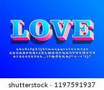 3d love alphabet with shadow... | Shutterstock .eps vector #1197591937
