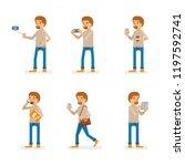 vector young adult man in...   Shutterstock .eps vector #1197592741