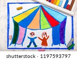 Colorful And Drawing  Circus...