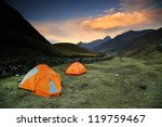 camping in cordiliera huayhuash ... | Shutterstock . vector #119759467