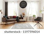 rug between armchair and couch... | Shutterstock . vector #1197596014
