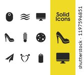 mixed icons set with shoe  soda ...