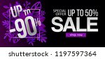 sale design with purple paper... | Shutterstock . vector #1197597364