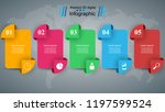 3d infographic design template... | Shutterstock .eps vector #1197599524