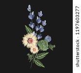 bouquet of wild flowers... | Shutterstock .eps vector #1197603277
