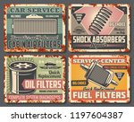 car repair service retro cards... | Shutterstock .eps vector #1197604387