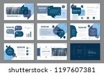 abstract presentation templates ... | Shutterstock .eps vector #1197607381