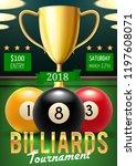 pool billiards tournament... | Shutterstock .eps vector #1197608071