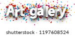 art gallery banner with... | Shutterstock .eps vector #1197608524